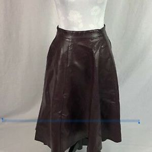 ASOS burgundy high lo faux leather skirt sz20